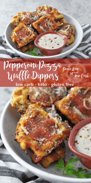 We've all tried fathead pizza by now, but what about combining pizza and waffles? These Fathead Pepperoni Waffle Pizza Dippers are a fun new spin on keto pizza.