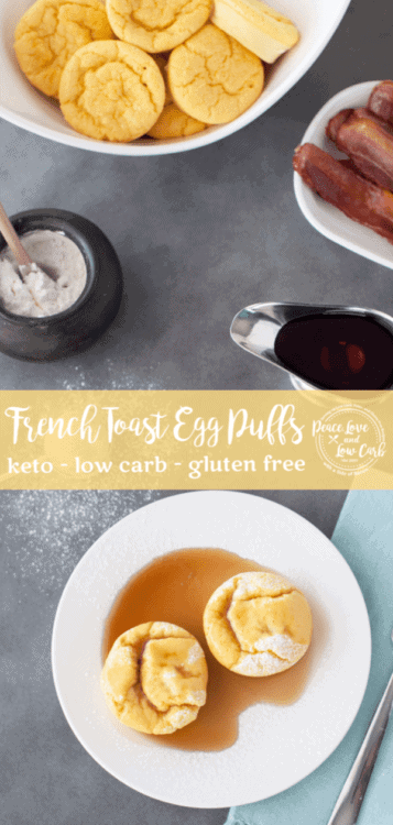 TheseKeto French Toast Egg Puffs are the perfect cross between cream cheese pancakes and all the delicious flavors of low carb french toast.