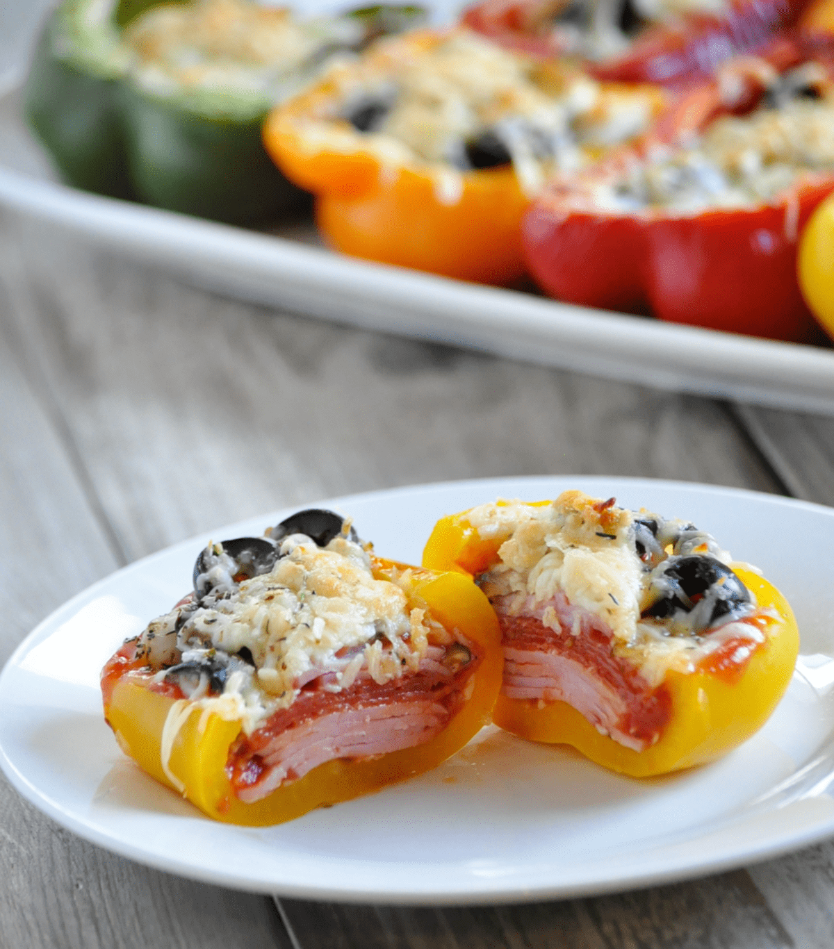 Keto Supreme Pizza Stuffed Peppers | Peace Love and Low Carb