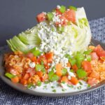 Buffalo Chicken Wedge Salad | Peace Love and Low Carb