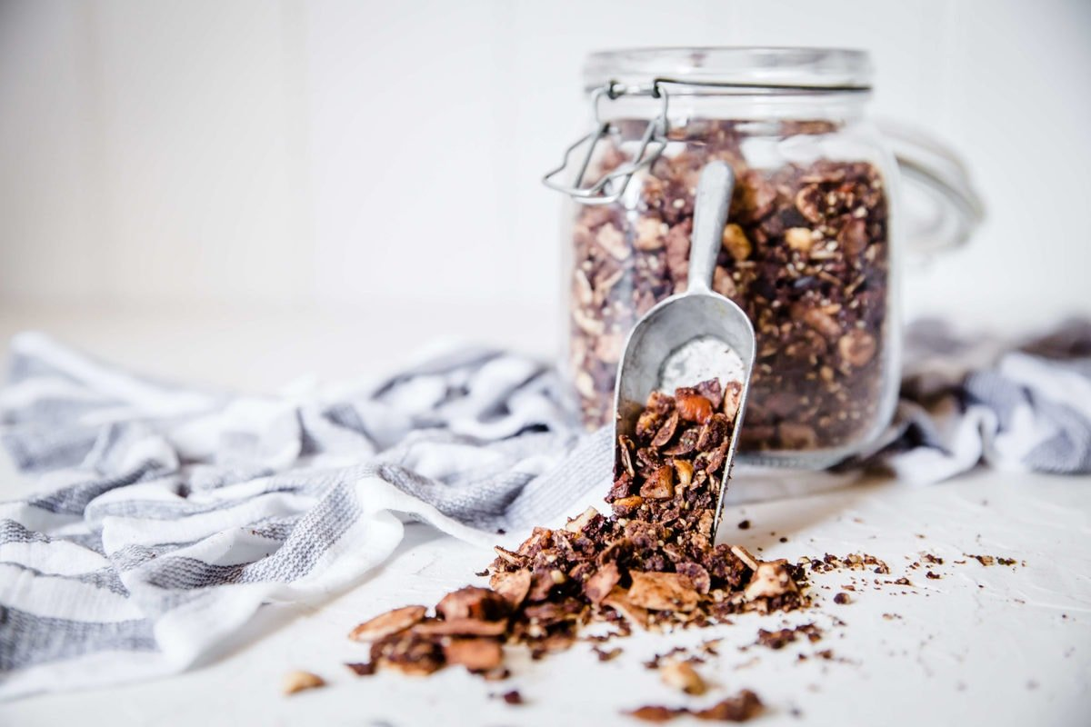 Nutty Chocolate Keto Granola | Peace Love and Low Carb