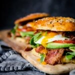 Keto Bagel Breakfast Sandwiches | Peace Love and Low Carb