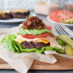 Best Ever Keto Bunless Burger - Bacon Jam | Peace Love and Low Carb