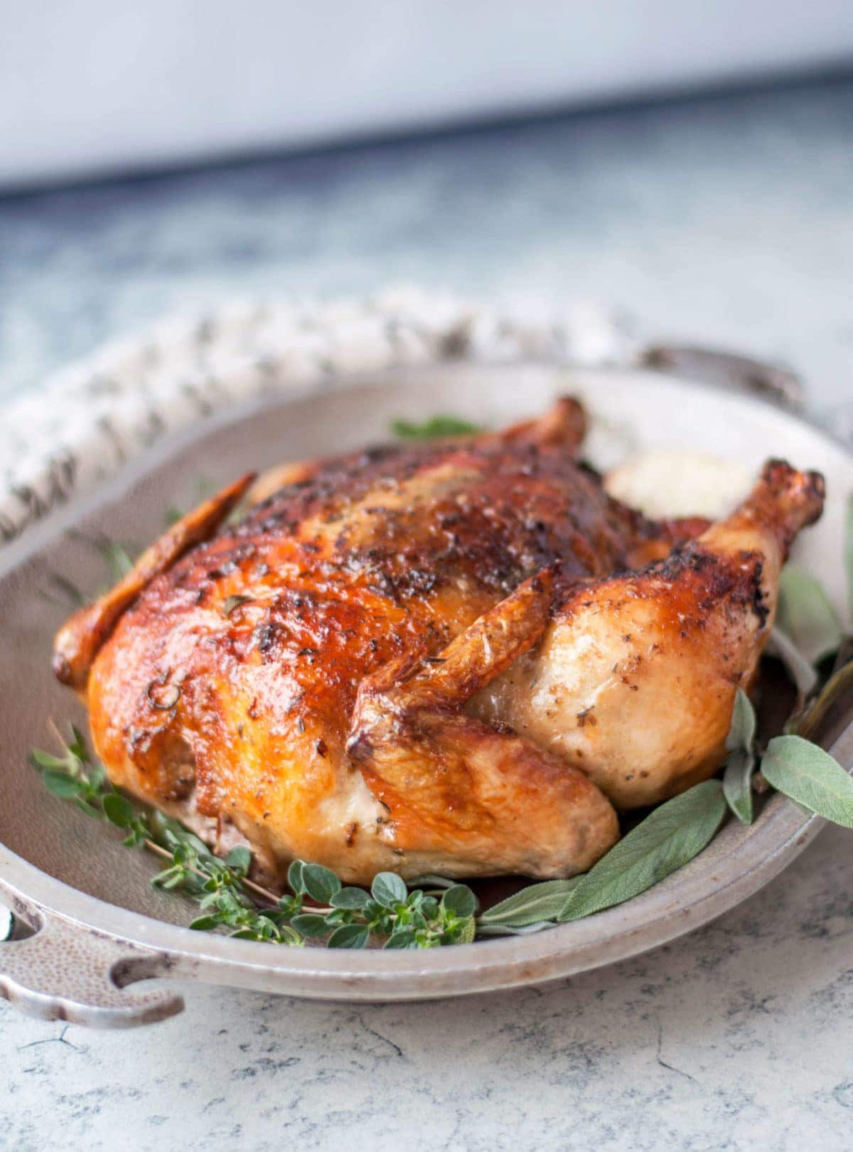 Herbed Butter Roasted Chicken   Peace Love and Low Carb