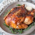 Herbed Butter Roasted Chicken | Peace Love and Low Carb