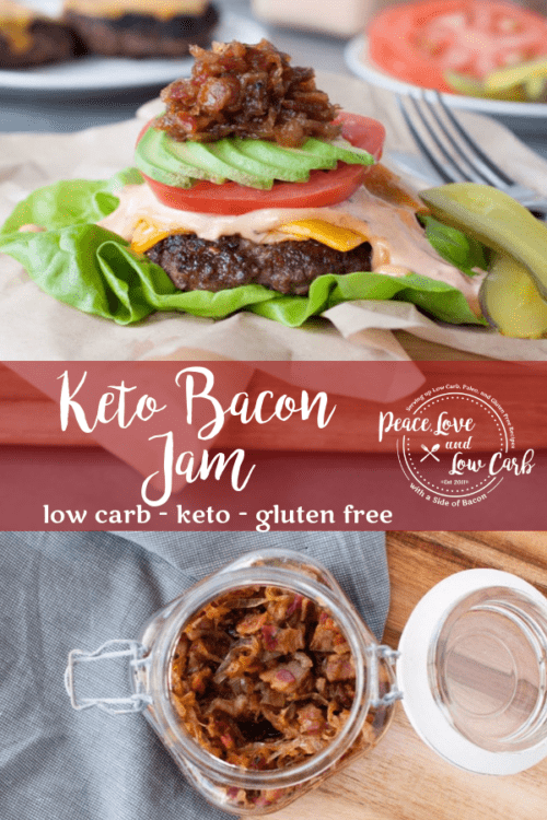 This Keto Bacon Jam is the perfect condiment for just about everything. Amazing on burgers, steak, and even your morning eggs.