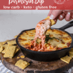 Keto Chicken Parmesan Dip | Peace Love and Low Carb copy