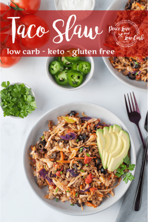 Keto Taco Slaw | Peace Love and Low Carb