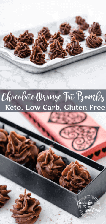 Keto Orange Chocolate Fat Bombs | Peace Love and Low Carb