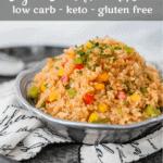 Cajun Cauliflower Rice   Peace Love and Low Carb copy