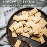 Parmesan Chive and Garlic Keto Crackers | Peace Love and Low Carb