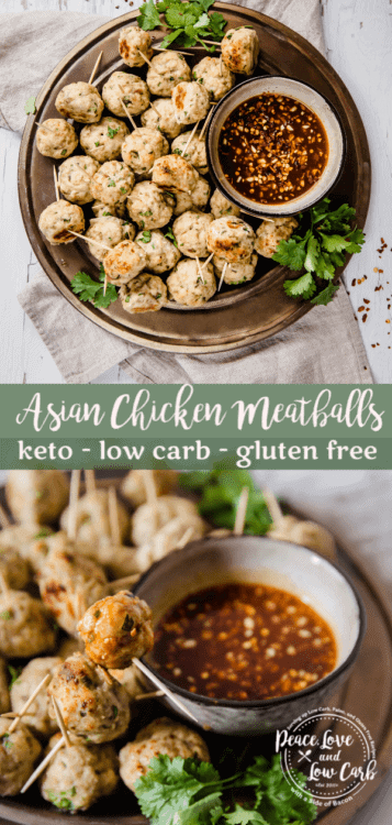 The Keto Asian Chicken Meatballs are the perfect low carb appetizer to serve at your next keto get together. They are the perfect blend of sweet and savory.