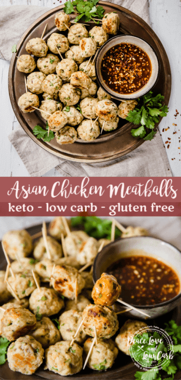 Keto Asian Chicken Meatballs | Peace Love and Low Carb copy