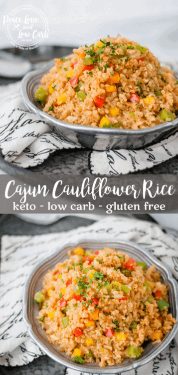 Keto Cajun Cauliflower Rice | Peace Love and Low Carb