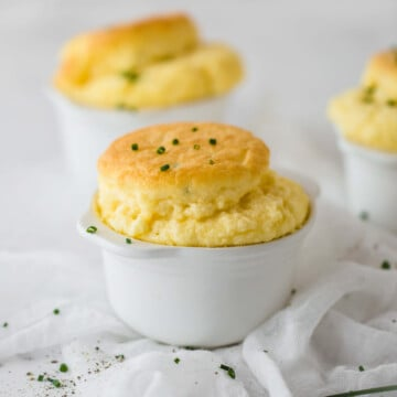 Cheese and Chive Keto Souffles   Peace Love and Low Carb
