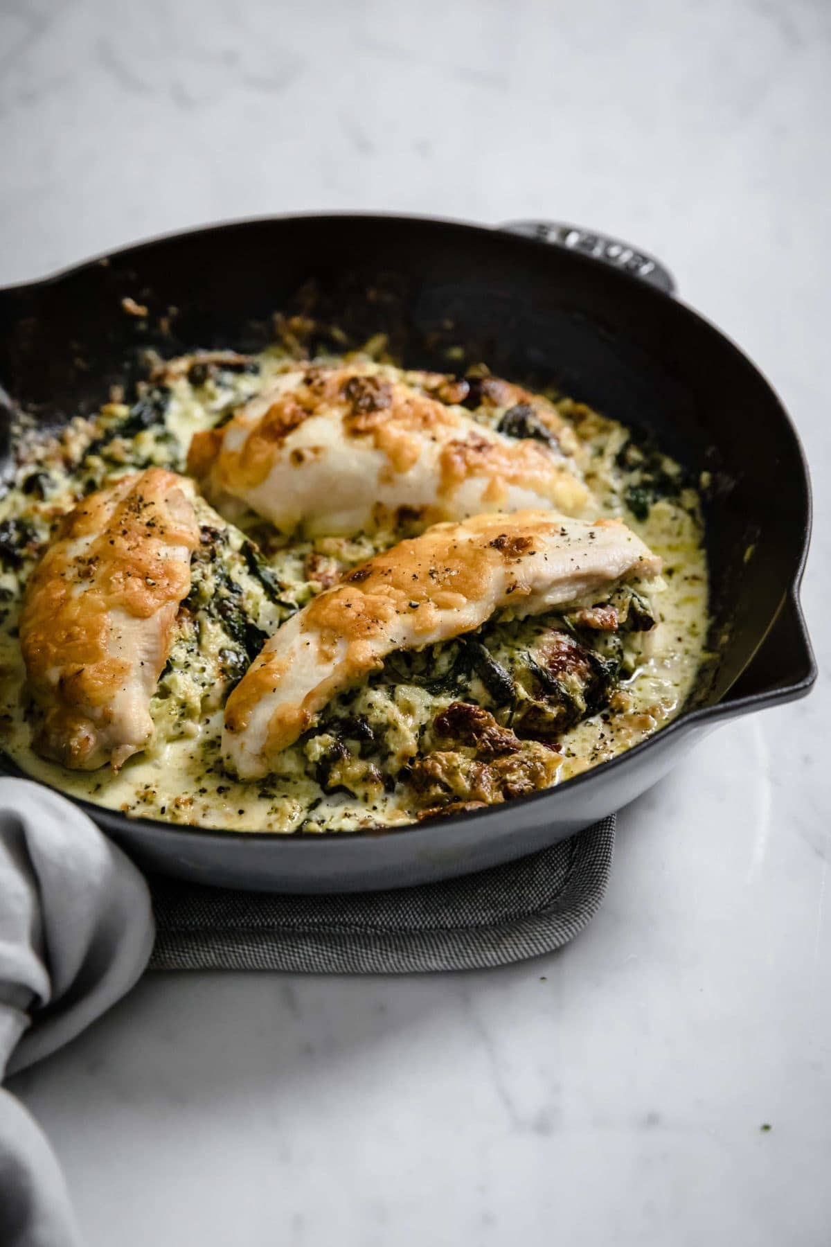 Keto Broccoli and Cheese Stuffed Chicken | Peace Love and Low Carb