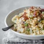 Keto Loaded Mock Potato Salad   Peace Love and Low Carb