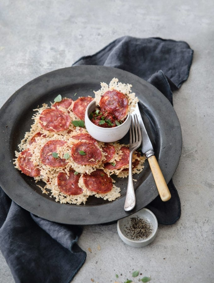 Keto Pizza Chips | Peace Love and Low Carb