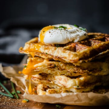Ham and Gruyere Savory Cauliflower Waffles   Peace Love and Low Carb
