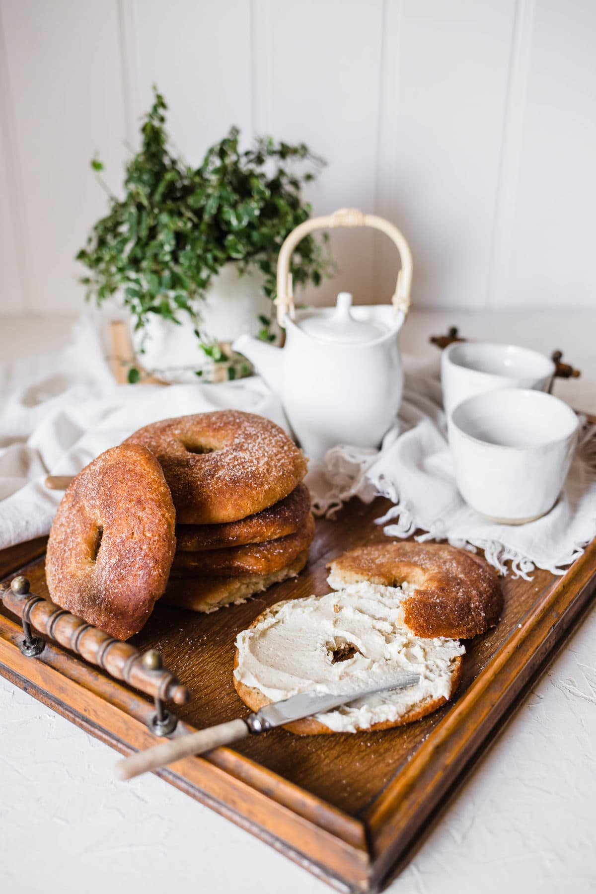 Keto Cinnamon Sugar Bagels | Peace Love and Low Carb