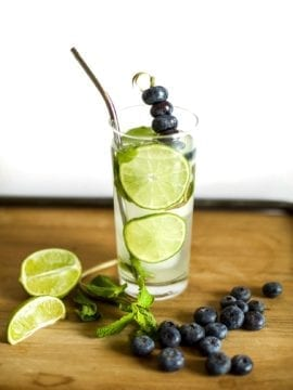 Keto Blueberry Mojito | Peace Love and Low Carb