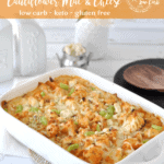 Keto Buffalo Chicken Cauliflower Mac and Cheese | Peace Love and Low Carb