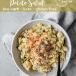 Loaded Mock Keto Potato Salad | Peace Love and Low Carb