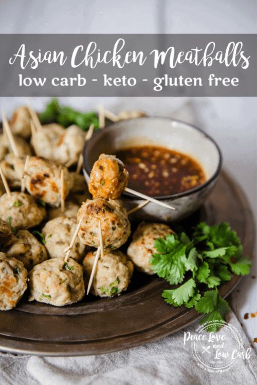 These Keto Asian Chicken Meatballs are the perfect low carb appetizer to serve at your next keto get together. They are the perfect blend of sweet and savory.