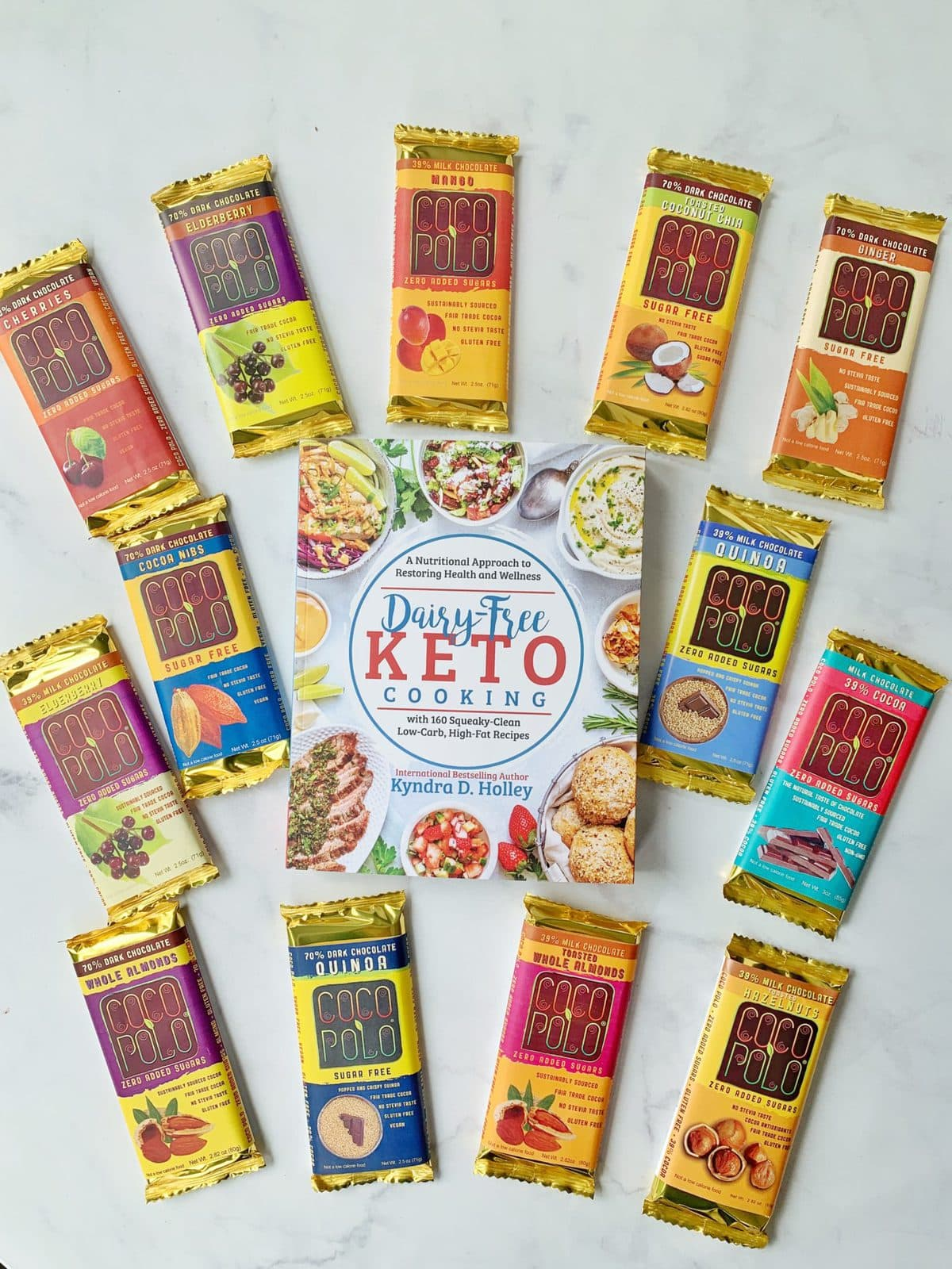 Dairy Free Keto Cooking GIVEAWAY Extravaganza - 11 Weeks of giveaways for the launch of my new book. Coco Polo Chocolate