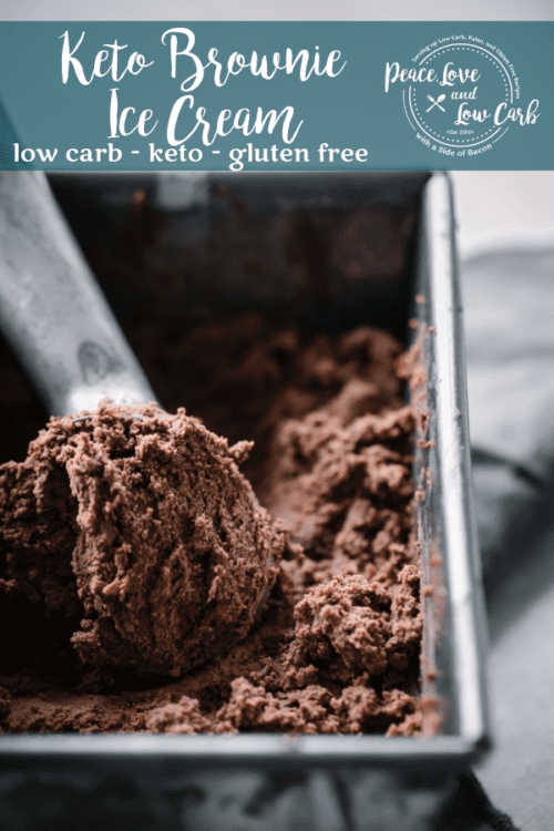 Rich and delicious, this Keto Brownie Ice Cream is the perfect summer treat. It's so good that you won't even know it is low carb and gluten free.
