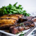 This Keto Coffee Barbecue Pork Belly is perfectly crispy outside, while being tender and juicy on the inside. The coffee flavored, paired with the sweet and savory barbecue flavor is a match made in heaven.