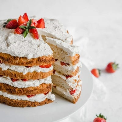 This Keto Strawberry Shortcake is the perfect spring and summer low carb dessert. With moist cake, fresh whipped cream and perfectly sweet strawberries, this is a perfectly balanced keto treat.