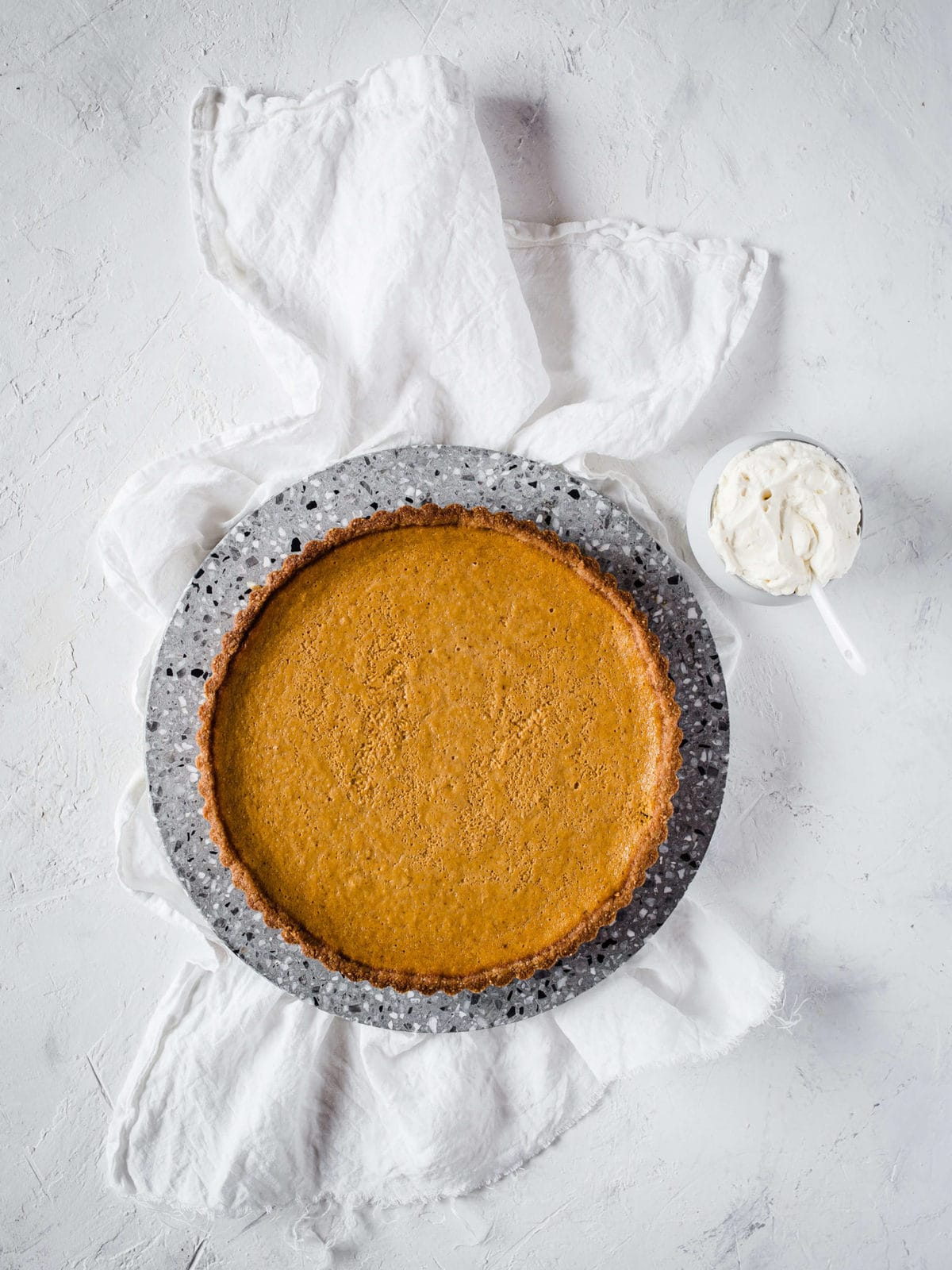 Keto Pumpkin Pie fresh out of the oven