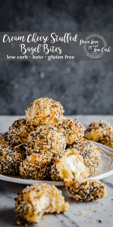 Cream Cheese Stuffed Bagel Bites - Keto, Low Carb, Gluten Free