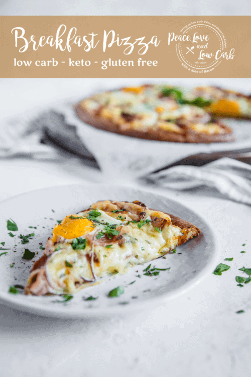 Keto Breakfast Pizza | Peace Love and Low Carb