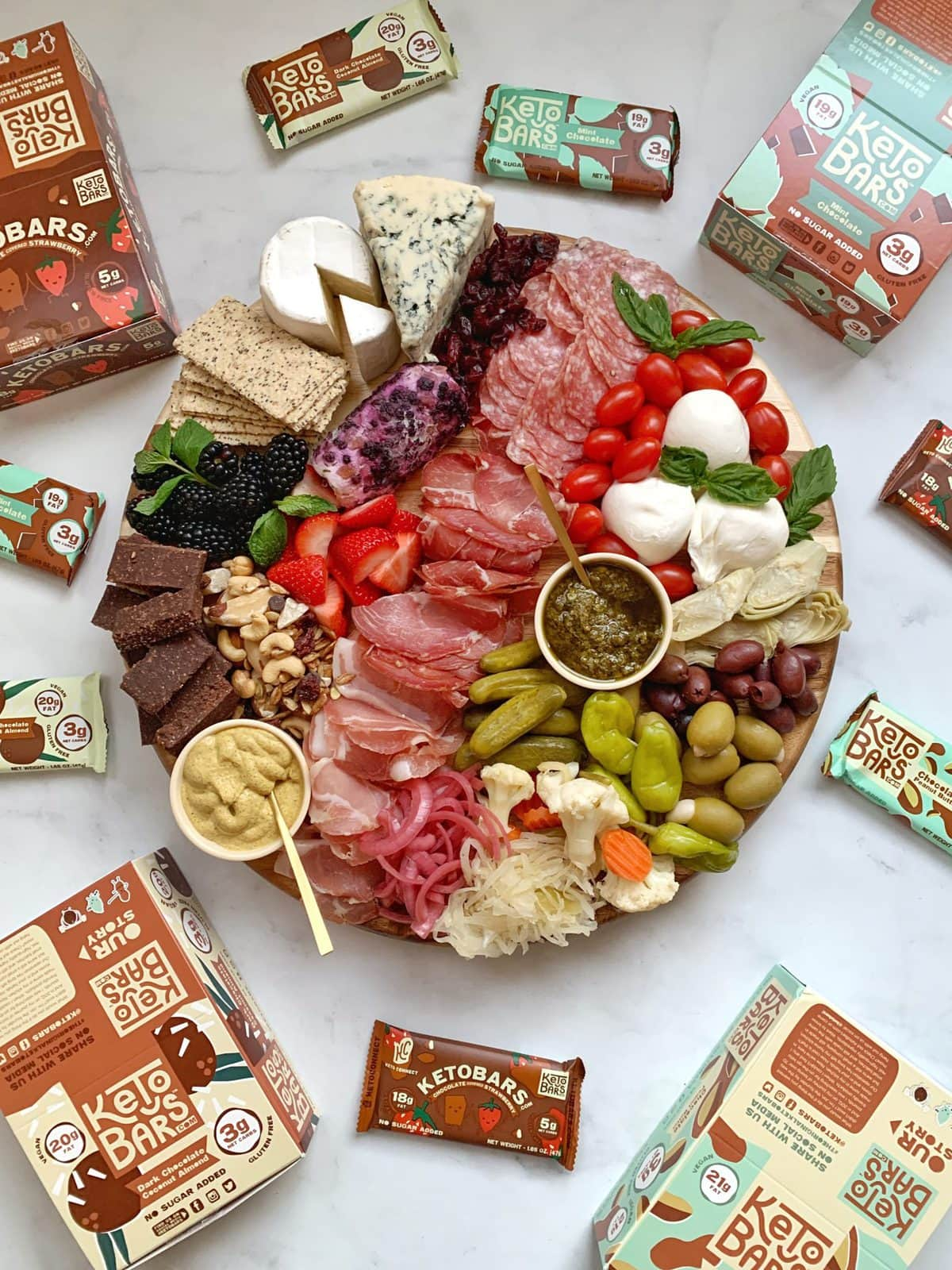 Keto Charcuterie Board and Keto Bars Review | Peace Love and Low Carb