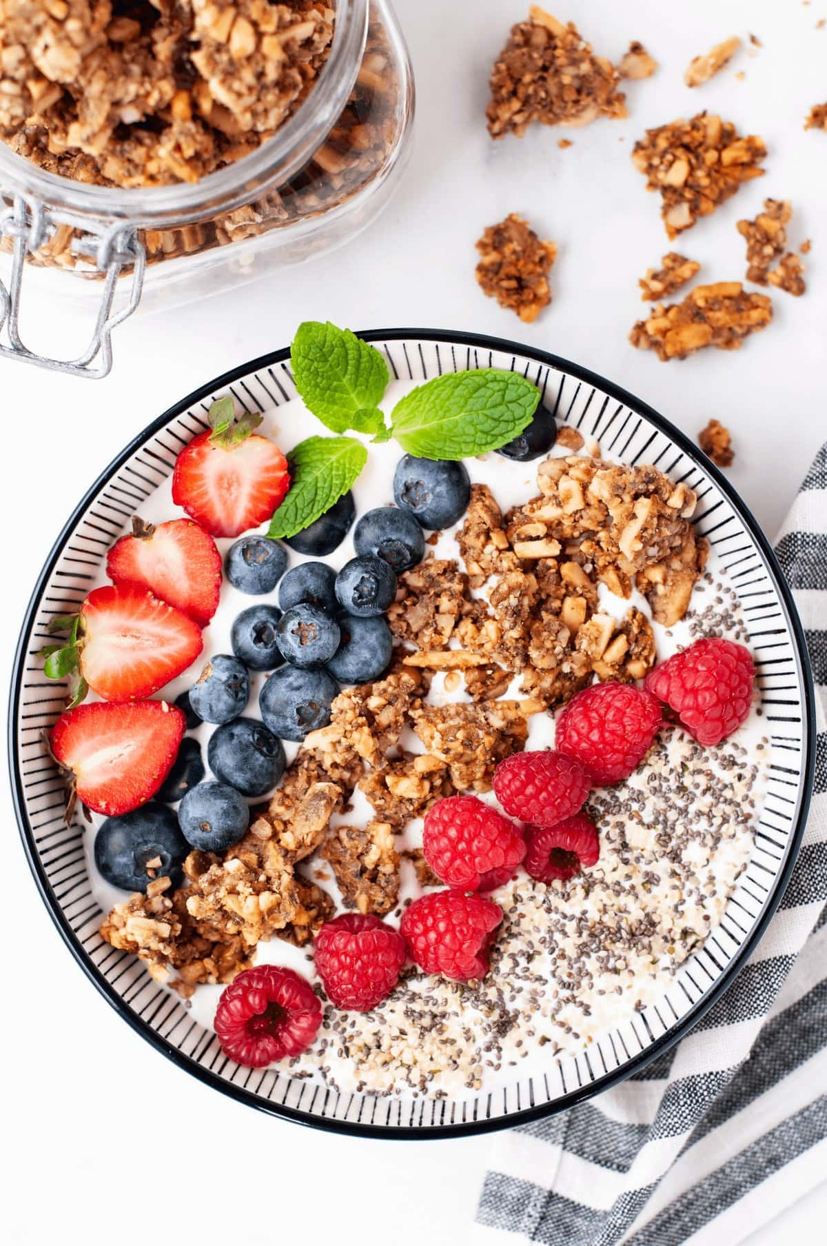 Keto Yogurt Granola Parfait Bowl Gluten Free Dairy Free
