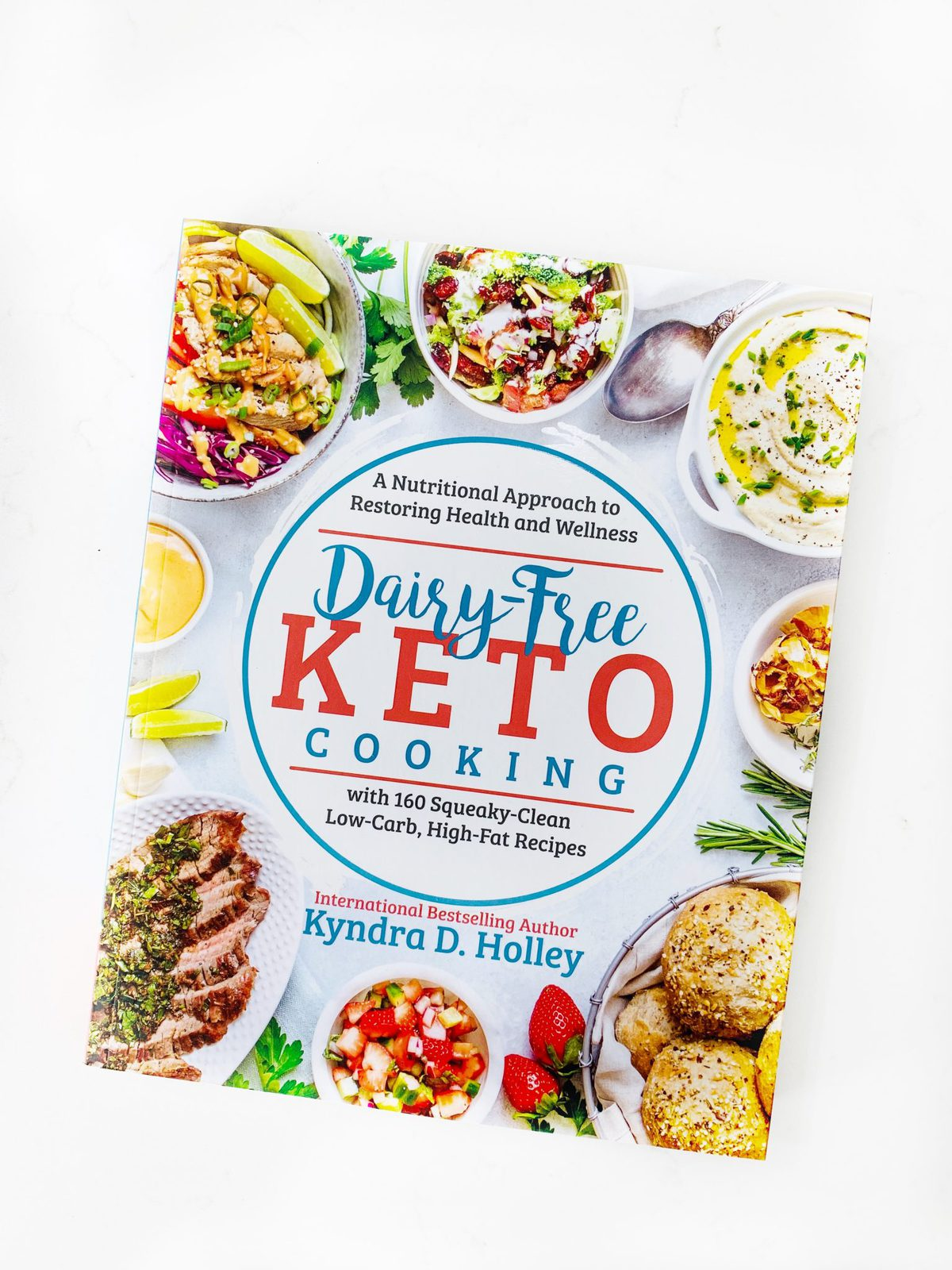 Flat lay shot of a cookbook - Dairy Free Keto Cooking
